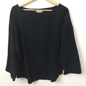 SOFT SURROUNDINGS Size XL Cotton Black Blouse